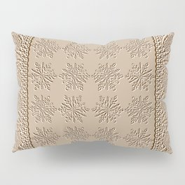 Lace and Stars in Coffee Color Chenille Pattern Pillow Sham