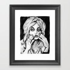courtney love cobain no.2 Framed Art Print