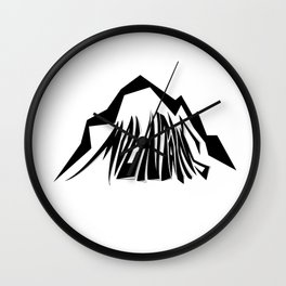 Mountains Oldschool Wall Clock
