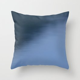 The Soft Blue Hour Before Dawn at the Lake Throw Pillow