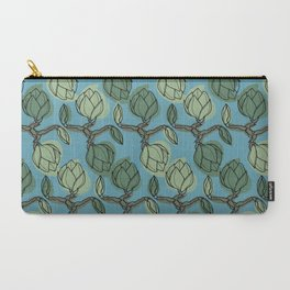 Magnolia branch abstract botanical pattern. Carry-All Pouch