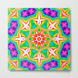 Rainbow Kaleidoscope Metal Print