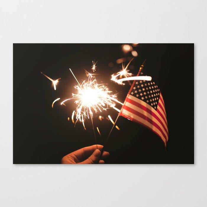 Happy America Canvas Print