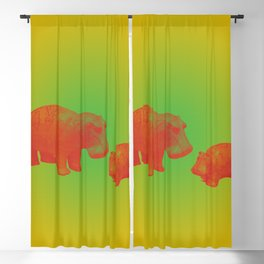 WILLIAM THE HIPPO IV Blackout Curtain