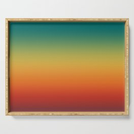 Colorful Trendy Gradient Pattern Serving Tray