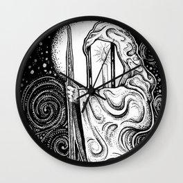 The Hermit Tarot Wall Clock