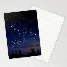 I love You Stars Design Stationery Cards