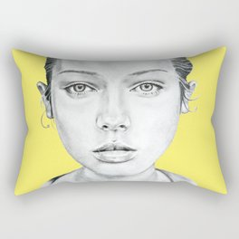 Lady Portrait Rectangular Pillow