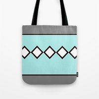 charlie brown Tote Bags featuring Charlie Blue by Bunhugger Design