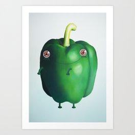 Healthy Pepper Art Print