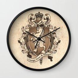 Unicorn Coat Of Arms Heraldry Wall Clock