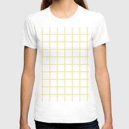 GRID (KHAKI & WHITE) T-shirt
