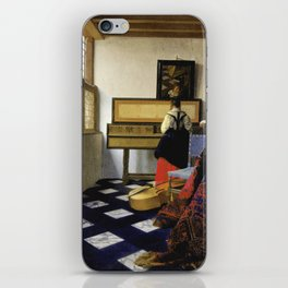 Johannes Vermeer  - The Music Lesson iPhone Skin