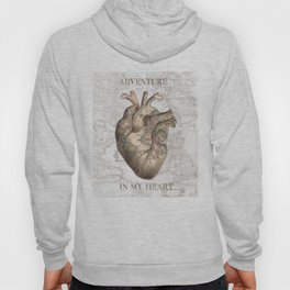 adventure heart-world map 1 Hoody