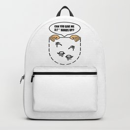 Can you give me a F*** Hands-up? Funny Backpack