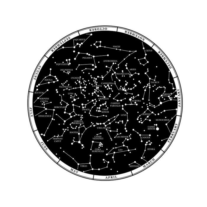 Star Map  Duvet Cover