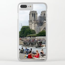 Notre Dame Ruins 2 Clear iPhone Case