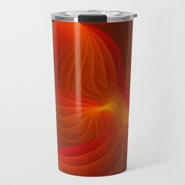 Much Warmth, Abstract Fractal Art Travel Mug