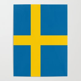 Flag of Sweden - Authentic (High Quality Image) Poster