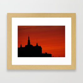 Red Sky Framed Art Print
