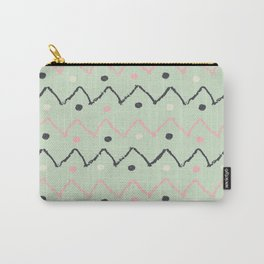 Hand Made Pattern Green & Black Carry-All Pouch