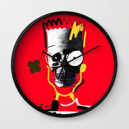 No.1 - Beauty isn't only skin deep / b-ART / RED Wall Clock