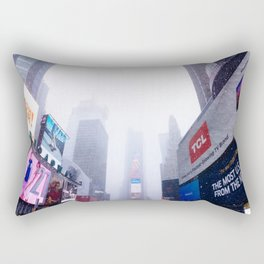 Snowy Times Square, NYC 2 Rectangular Pillow