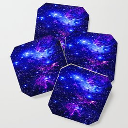 Fox Fur Nebula Galaxy blue purple Coaster