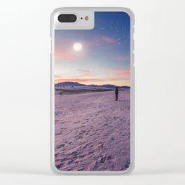 Moon gazers Clear iPhone Case