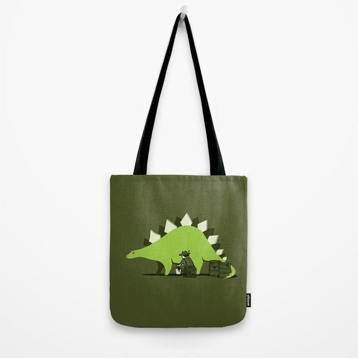 Crude oil comes from dinosaurs Tote Bag