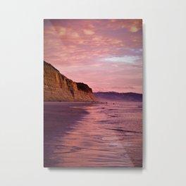 Sunset Walk along Torrey Beach by Reay of Light Photography Metal Print