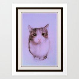 Merrill. Evil Cat from Hell Art Print