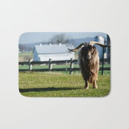Long Horned Billy Goat Bath Mat