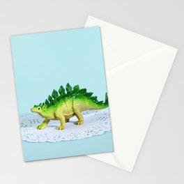 Doily Stegosaurus Stationery Cards