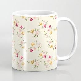 Wes Anderson Inspired Floral Bouquets Coffee Mug
