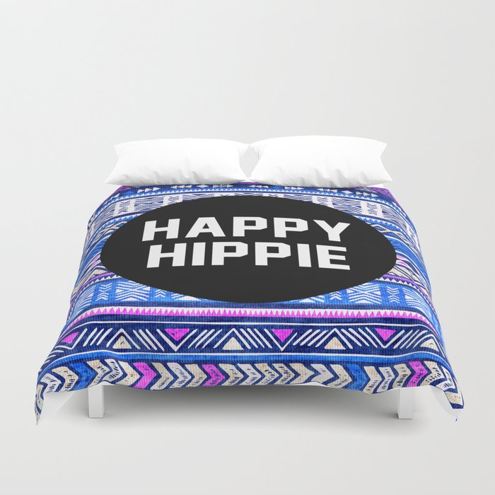 Happy hippie Duvet Cover