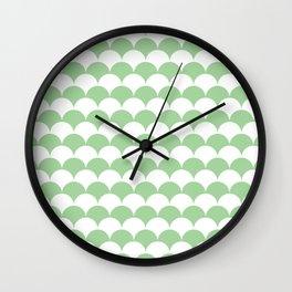 Mint Clamshell Pattern Wall Clock