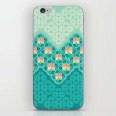 Blue Garden Pattern iPhone & iPod Skin