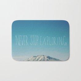 Never Stop Exploring: Mount Rainier Bath Mat