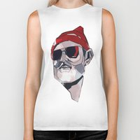 zissou Biker Tanks featuring Team Zissou by PAFF