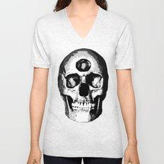 Third Eye Bones (Black and White Edition) Unisex V-Neck