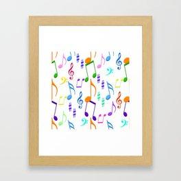 Colorful Notes Framed Art Print