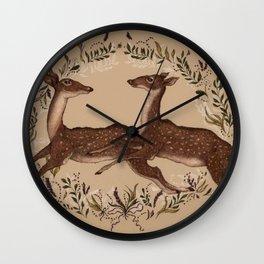Jumping Deer Wall Clock
