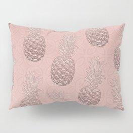Precious Pineapple Pattern Rose Gold Pillow Sham