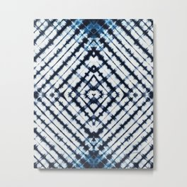 Diamonds Indigo Metal Print