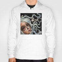 surrealism Hoodies featuring White Spirits :: Pop Surrealism Painting by Kristin Frenzel