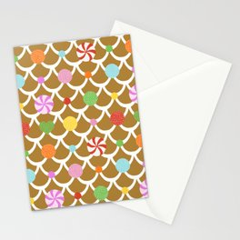 Gingerbread House Roof Stationery Cards