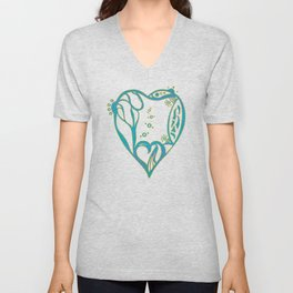 Birth Hearts No.8 - Green Unisex V-Neck