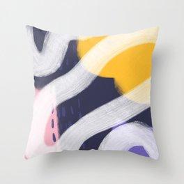 Lemon Tree Mixed Media (Lollipop) Throw Pillow