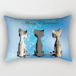 Funny cartoon cats Rectangular Pillow